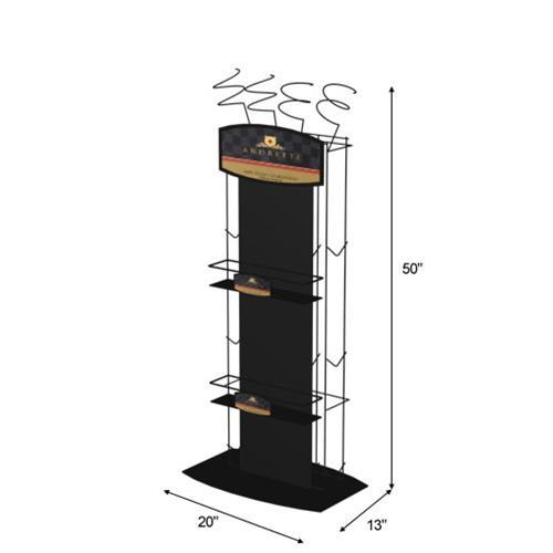 Floor Retail Wine Display Stand Wine Rack Display Stand