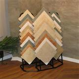 Metal Staggered Tile Display Stand