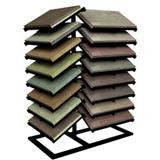Metal Brick Paver Display Shelves