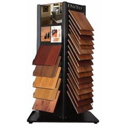 Hardwood laminate tile showroom display tile showroom for Laminate flooring displays