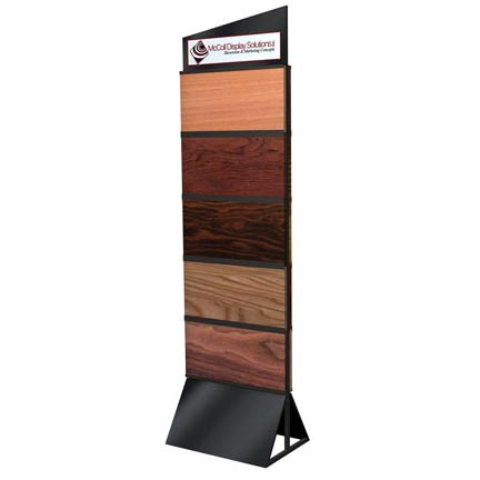 Hardwood laminate tile display stand flooring display for Laminate flooring displays