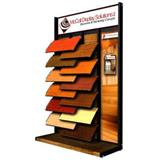 Hardwood Tile Sample Display Rack