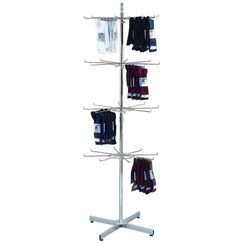 Rotating Wire Rack | Wire Floor Sock Spinning Rack Spinning Sock Display Wire Store Rack