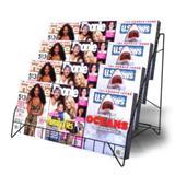 Four Shelf Countertop Magazine Rack