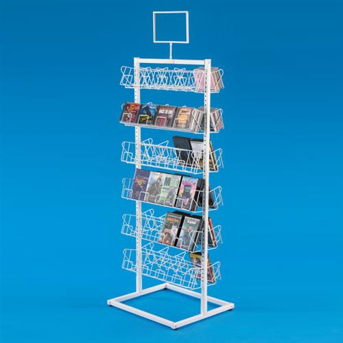 Double Sided Cd Dvd Display Dvd Display Stand Floor