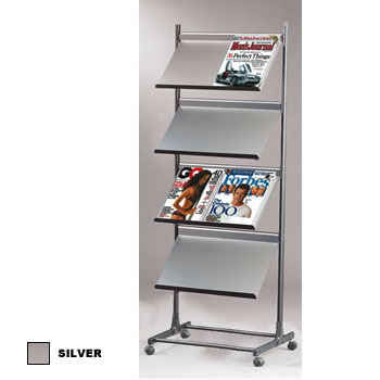 Mobile Metal Magazine/Brochure Rack,Mobile Brochure Rack,Metal ...