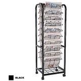 Metal Caster Newspaper Display Rack