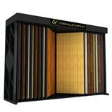 Wing Rack Hardwood Tile Display