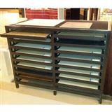 Double Rows Drawer Ceramic Display