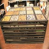 Island Mosaic Tile Display Rack