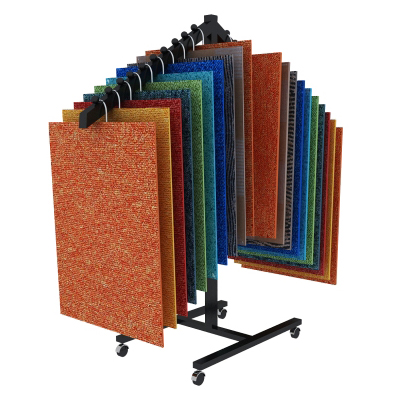 portable carpet sample display rack,portable carpet display