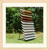 Steel Hardwood Waterfall Display Shelves