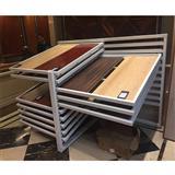 White Metal Hardwood Floor Displays