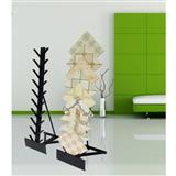 Black Steel Granite Waterfall Display