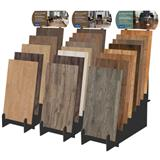 Wood Display material slot stand for Parquet Flooring